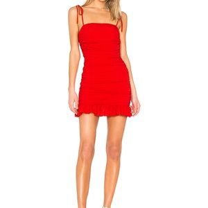 Lovers + friends Amy Mini Dress - red